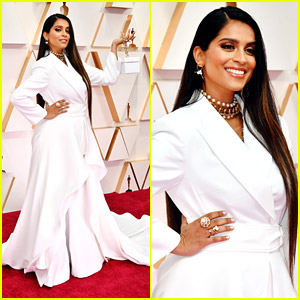Lilly Singh Is a Vision In White at Oscars 2020