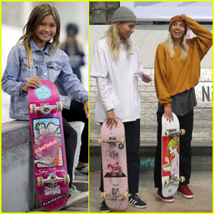 Lisa & Lena Skate With Sky Brown For a Good Cause!