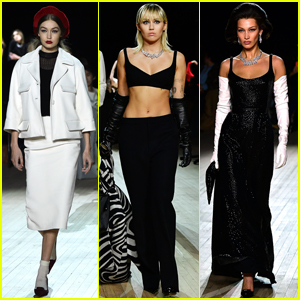 Miley Cyrus Walks in Marc Jacobs Fashion Show Alongside Hadid Sisters!
