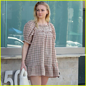 Sophie Turner Wears a Cute Dress with White Boots in These New Photos!