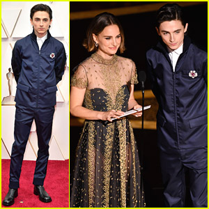 Timothee Chalamet Presents With Natalie Portman at Oscars 2020