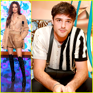 Zendaya & Jacob Elordi Step Out For Fendi's Solar Dream Experience with Katherine Langford