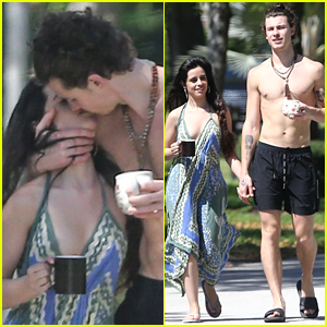 Camila Cabello & Shawn Mendes Engage in Some Quarantine PDA!