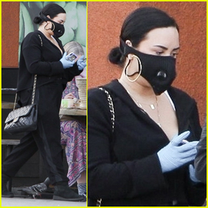 Demi Lovato Steps Out Wearing a Mask & Gloves Amid Coronavirus Pandemic