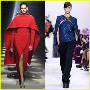 Kaia Gerber Hits 2 Runways At Paris Fashion Week On Sunday
