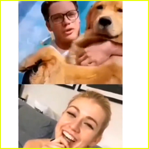 Katherine McNamara & Dominic Sherwood Video Chat While Social Distancing
