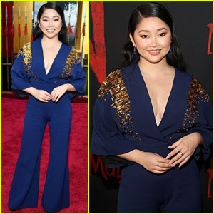 Lana Condor Gets Glam For 'Mulan' Premiere in LA