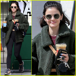Lucy Hale Gets Some Fresh Air During Coronavirus Social Distancing
