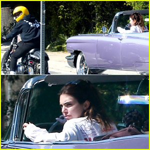 Harry Styles Rode His Motorcycle Alongside Kendall Jenner's Car in L.A.