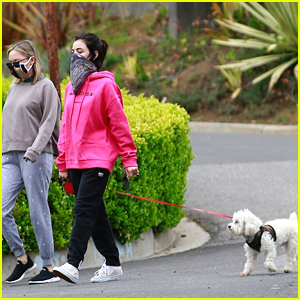 Lucy Hale Shares Super Cute Boomerang With Dog Elvis For Easter