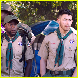 Nick Jonas Becomes a Boy Scout For a Day With Kevin Hart (Video)