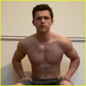 Tom Holland Shows Off Muscular Body While Doing Handstand Challenge