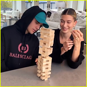 Hailey & Justin Bieber Play A Game of Jenga During New Facebook Watch Series
