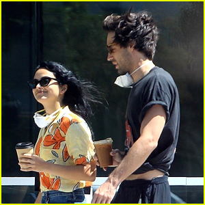 Camila Mendes Picks Up Coffee To Go With Grayson Vaughan