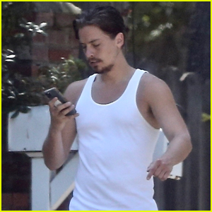 Cole Sprouse Rocks a Tank Shirt for Afternoon Workout!