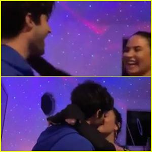 Demi Lovato & Max Ehrich Kiss & Dance In Ariana Grande & Justin Bieber's 'Stuck With U' Music Video!