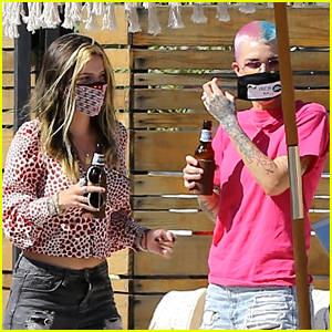 Bella Thorne Participates in a Birthday Parade with Ruby Rose