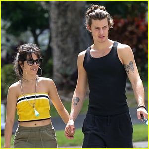 Camila Cabello Goes for a Walk With Her Dog Thunder & Boyfriend Shawn Mendes