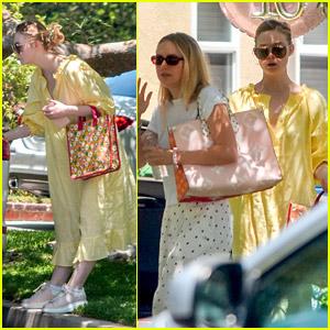 Elle Fanning Stops By Friend's Sweet 16 Party With Sister Dakota