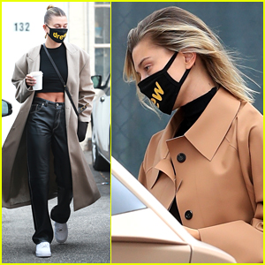 Hailey Bieber Wears Drew House Mask & Crop Top While Running Errands in LA