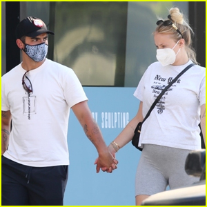 Joe Jonas & Pregnant Sophie Turner Hold Hands on Father's Day Outing!