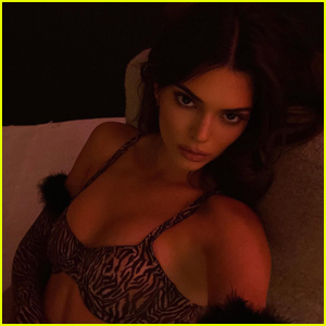 Kendall Jenner Models Her Kendall X Kylie Make-Up Collab While Lounging in Bed!