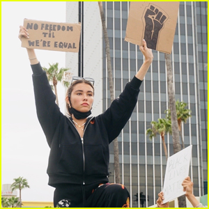 Madison Beer Joins George Floyd Protests in LA