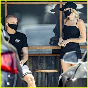 Miley Cyrus Picks Up Coffee To Go With Boyfriend Cody Simpson