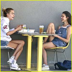 Cara Delevingne Grabs Lunch with Her BFF Margaret Qualley