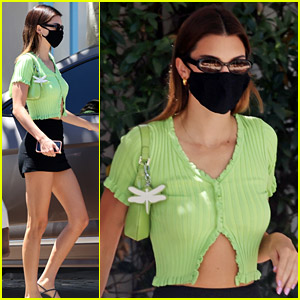 Kendall Jenner's Affordable Green Crop Top Can Be Yours Now!