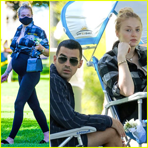 Sophie Turner & Joe Jonas Go to the Park with His Family! (Photos)