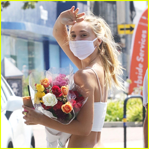Alexis Ren Picks Up Flowers From The Farmer's Market Over The Weekend