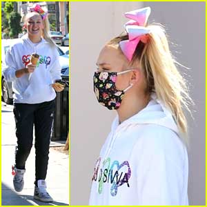 JoJo Siwa Wears Her Own Face On Her Mask While Out For Ice Cream