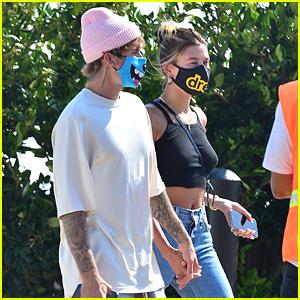 Justin & Hailey Bieber Get Lunch at Celeb-Fave Restaurant Nobu