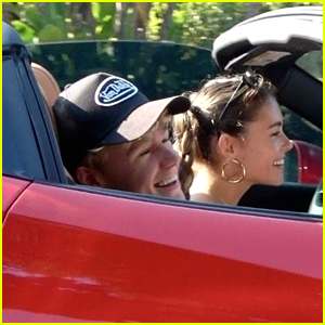 Madison Beer & Nick Austin Meet Up For Another Meal, Drive Off In Ferrari Together