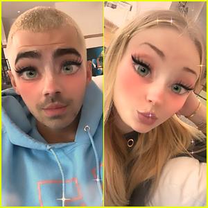 Joe Jonas & Sophie Turner Share Cute New Selfies With Cartoon Filter