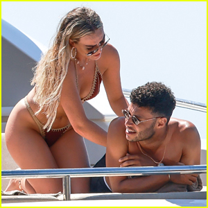 Perrie Edwards & Alex Oxlade-Chamberlain Have Fun In The Sun In Spain!