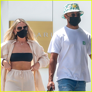 Perrie Edwards & BF Alex Oxlade-Chamberlain Go Shopping In Spain
