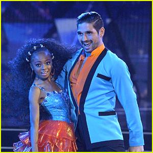 Skai Jackson & Alan Bersten Perform Samba For 'Dancing With The Stars Week 2