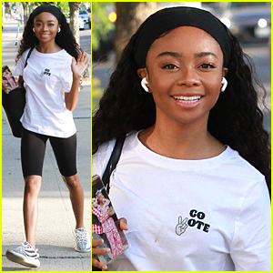 Skai Jackson Has a Message For Fans While Heading To 'DWTS' Rehearsals