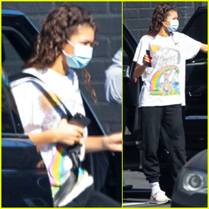 Zendaya Returns to a Work in L.A. After Emmys Win!