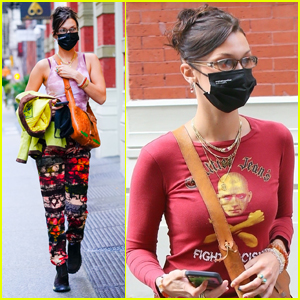 Bella Hadid Rocks Colorful Pants While Out in NYC
