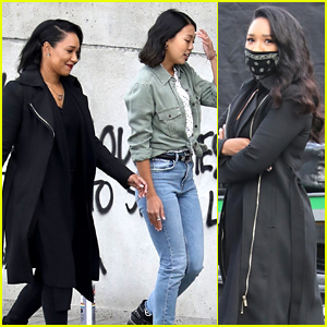 Candice Patton Back On 'The Flash' Set, Seen Filming With Victoria Park