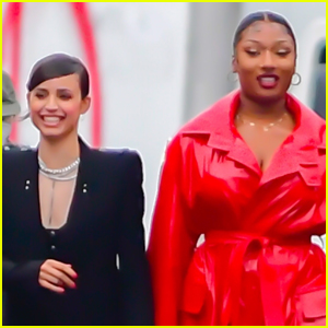 Sofia Carson Joins Megan Thee Stallion in New Revlon Commercial Shoot!