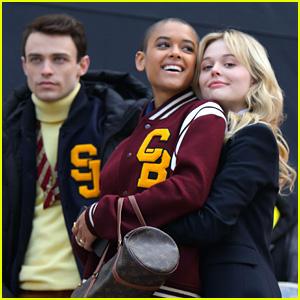 Emily Alyn Lind Hugs Jordan Alexander on 'Gossip Girl' Set - New Pics!