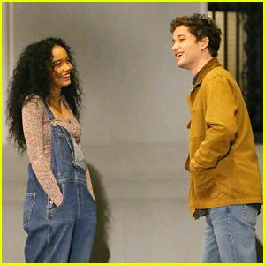 'Gossip Girl' Stars Whitney Peak & Eli Brown Continue Filming in NYC