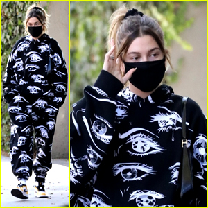 Hailey Bieber Steps Out in an Eye-Catching Sweat Suit For Lunch With A Friend in LA