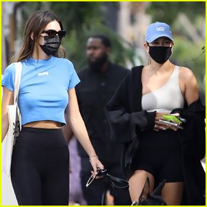 Kendall Jenner Meets Up with Hailey Bieber for Lunch in WeHo