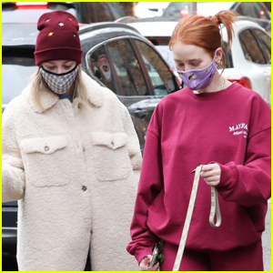 Lili Reinhart & Madelaine Petsch Stay Safe in Masks While Walking Their Dogs
