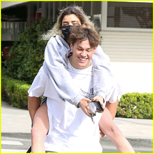 Noah Beck Gives Dixie D'Amelio a Piggyback Ride After Breakfast Date